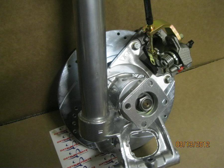240z 280z New Rear Maxima Disc Brake Conversion Set Back View